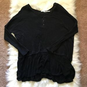 Kimchi Blue urban outfitters black sweater tunic